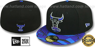 Bulls 'AQUA HOOK' Black-Multi Fitted Hat by New Era