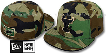 Bulls 'ARMY CAMO' Fitted Hat by New Era