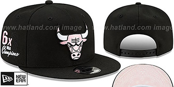 Bulls 'BANDANA PINK BOTTOM SNAPBACK' Black Hat by New Era