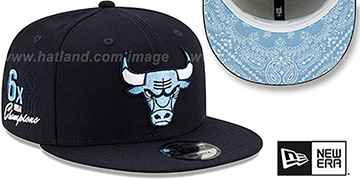 Bulls 'BANDANA SKY BOTTOM SNAPBACK' Navy Hat by New Era