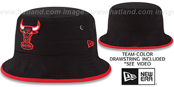 Bulls 'BASIC-ACTION' Black Bucket Hat by New Era