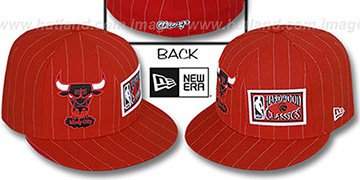 Bulls BIG-ONE DOUBLE WHAMMY Red-White Fitted Hat