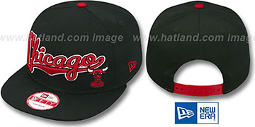Bulls 'BLOCK-SCRIPT SNAPBACK' Black Hat by New Era