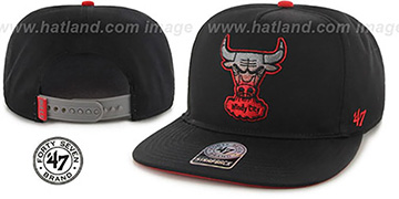 Bulls 'BURNING-MAN SNAPBACK' Black Hat by Twins 47 Brand