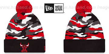 Bulls CAMO CAPTIVATE Knit Beanie Hat by New Era