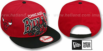 Bulls 'CHALK-UP HERO SNAPBACK' Red-Black Hat by New Era
