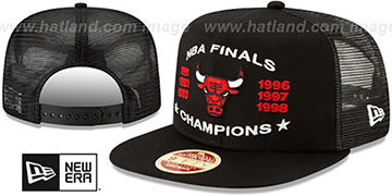 Bulls 'CHAMPIONS TRUCKER SNAPBACK' Black Hat by New Era