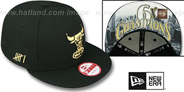Bulls 'CHAMPS-HASH SNAPBACK' Black Hat by New Era