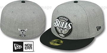 Bulls CIRCLE-CLOSER Grey-Black Fitted Hat by New Era