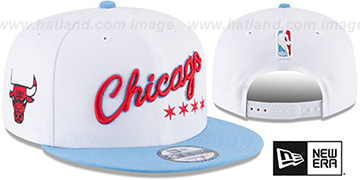 Bulls 'CITY-SERIES SNAPBACK' White-Sky Hat by New Era