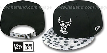 Bulls DALMATION ANIMALISTIC-FUR VIZA STRAPBACK Hat by New Era