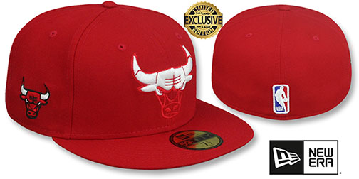 Bulls ELEMENTS TEAM-BASIC Red-White Fitted Hat by New Era