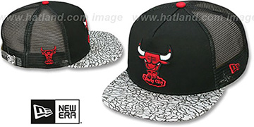 Bulls 'ELEPHANT-HOOK STRAPBACK' Black-Black Hat by New Era