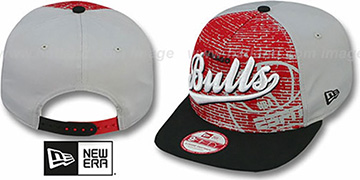 Bulls ESPN BRICK A-FRAME SNAPBACK Hat by New Era