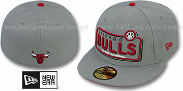 Bulls 'ESPN NEON' Grey Fitted Hat by New Era