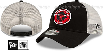 Bulls ESTABLISHED CIRCLE TRUCKER SNAPBACK Hat by New Era