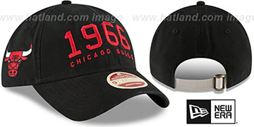 Bulls ESTABLISHED YEAR STRAPBACK Black Hat by New Era