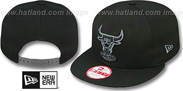 Bulls 'FADEOUT SNAPBACK' Black-Grey Hat by New Era