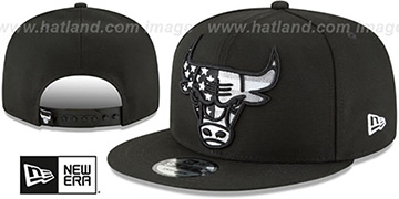 Bulls 'FLAG FILL INSIDER SNAPBACK' Black Hat by New Era