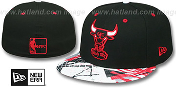 Bulls 'GEOMET TRICK' Black Fitted Hat by New Era