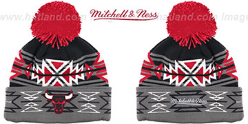 Bulls HWC 'GEOTECH' Knit Beanie by Mitchell and Ness