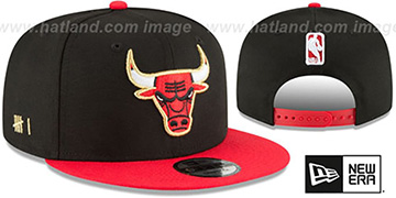 Bulls 'GLORY-TURN SNAPBACK' Black-Red Hat by New Era