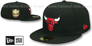 Bulls GOLDEN-HIT Black Fitted Hat by New Era