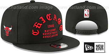 Bulls 'GOTHIC-ARCH SNAPBACK' Black Hat by New Era