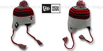 Bulls 'GREY STRIPETOP' Knit Beanie Hat by New Era