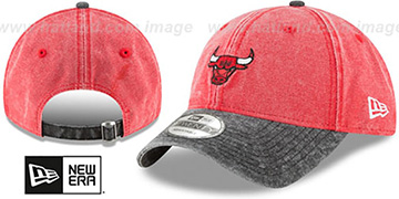 Bulls GW RUGGED CANVAS STRAPBACK Red-Black Hat by New Era
