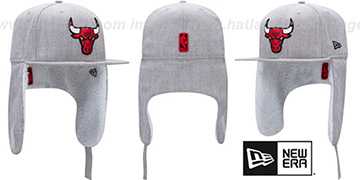 Bulls HEATHER-DOGEAR Light Grey Fitted Hat by New Era