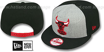 Bulls 'HEATHER-REFLECT SNAPBACK' Grey-Black Hat by New Era