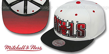 Bulls 'HOMESTAND SNAPBACK' White-Black Hat by Mitchell & Ness