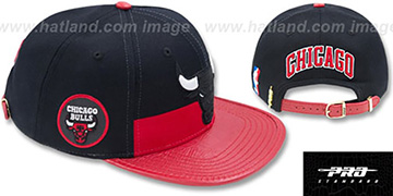 Bulls 'HORIZON STRAPBACK' Black-Red Hat by Pro Standard