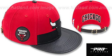 Bulls HORIZON STRAPBACK Red-Black Hat by Pro Standard