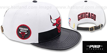 Bulls HORIZON STRAPBACK White-Black Hat by Pro Standard