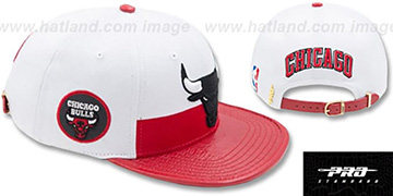 Bulls HORIZON STRAPBACK White-Red Hat by Pro Standard