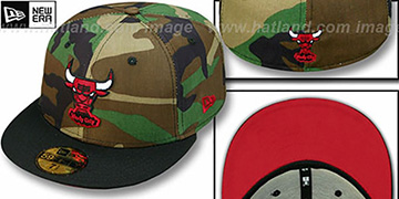 Bulls HW  2T CAMO Army-Black Fitted Hat by New Era