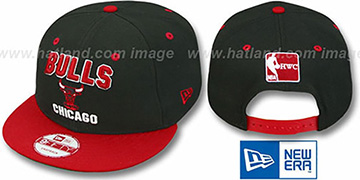 Bulls HW 2T PAYDIRT SNAPBACK Black-Red Adjustable Hat by New Era
