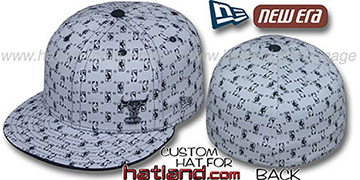 Bulls 'HW-NBA FLAWLESS FLOCKING' Grey-Black Fitted Hat