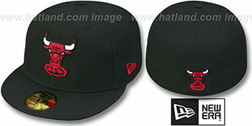 Bulls HW 'TEAM-BASIC' Black Fitted Hat by New Era