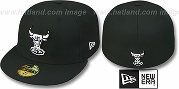 Bulls HW 'TEAM-BASIC' Black-White Fitted Hat by New Era