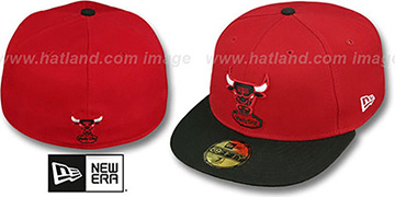 Bulls HW 'TEAM-BASIC' Red-Black Fitted Hat by New Era
