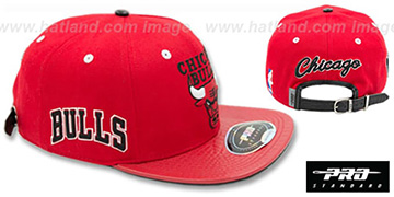 Bulls 'HWC-BASIC STRAPBACK' Red Hat by Pro Standard