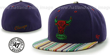 Bulls HWC BODHI Purple Fitted Hat by 47 Brand