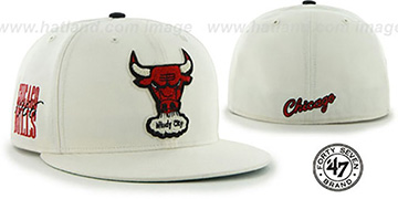 Bulls 'HWC CATERPILLAR' White Fitted Hat by 47 Brand