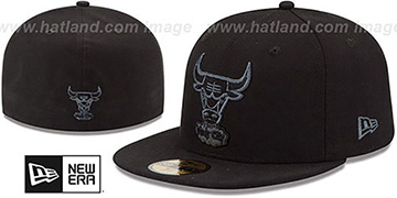 Bulls HWC FADEOUT-BASIC Black Fitted Hat by New Era