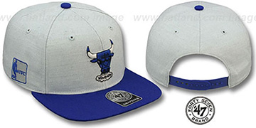 Bulls HWC 'SATCHEL SNAPBACK' Grey-Royal Adjustable Hat by Twins 47 Brand