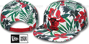 Bulls 'HWC TROPTRIP BLOOM SNAPBACK' Hat by New Era
