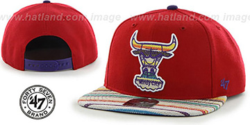Bulls HWC WARCHILD SNAPBACK Red Hat by Twins 47 Brand